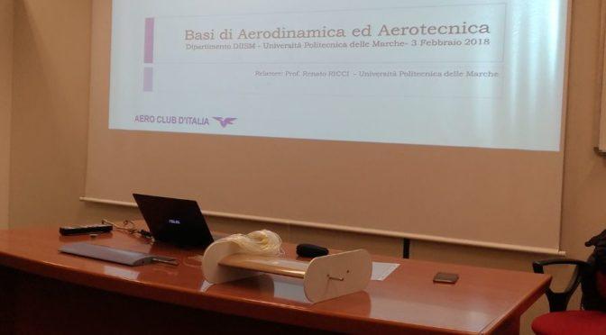 3 Febbraio 2018 – Incontro didattico e scientifico UNIVPM – aerotecnica e aerodinamica